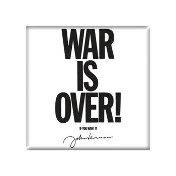 Magnes na lodówkę JOHN LENNON - WAR IS OVER !