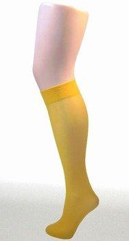 Podkolanówki żółte 40 den 100% nylon