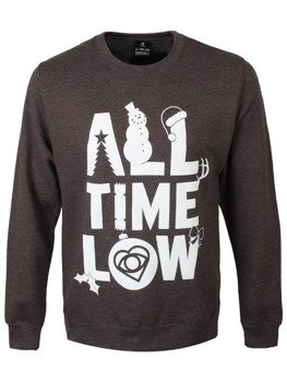 bluza ALL TIME LOW - CHRISTMAS LOGO, bez kaptura