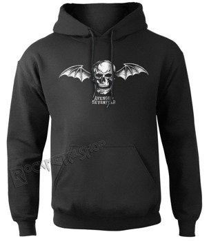 bluza AVENGED SEVENFOLD - DEATH BAT LOGO, kangurka z kapturem
