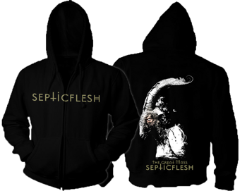 bluza SEPTIC FLESH - WHITEGOAT rozpinana, z kapturem