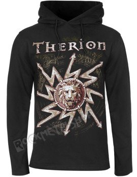 bluza THERION - LION czarna, z kapturem
