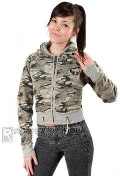 bluza damska na suwak MORO LT BEIGE