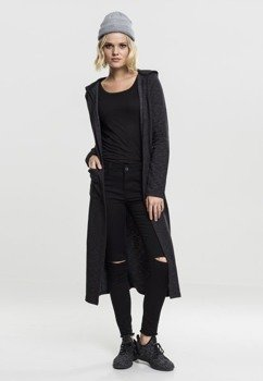 bluza/kardigan LADIES SPACE DYE HOODED CARDIGAN black
