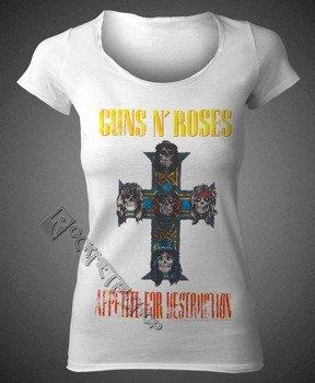 bluzka damska GUNS N' ROSES - APPETITE FOR DESTRUCTION WHITE