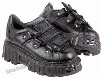 buty KMM wysoka podeszwa, czarne (wz357)