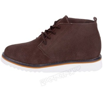 buty zamszowe NEW AGE - BRĄZOWE / BROWN (WS1272)