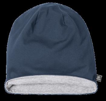 czapka zimowa JERSEY BICOLOR NAVY GREY