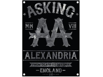 flaga ASKING ALEXANDRIA - BLACK LABEL