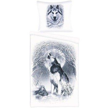 komplet pościelowy SPIRAL - WHITE WOLF, kołdra (135*200) + poduszka (75*50)