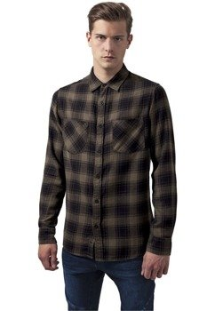 koszula CHECKED FLANELL 3 blk/olive