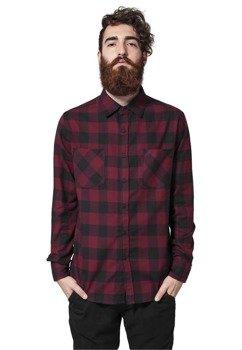 koszula CHECKED FLANELL blk/burgundy