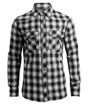koszula GREAT CREEK CHECKSHIRT black-off white