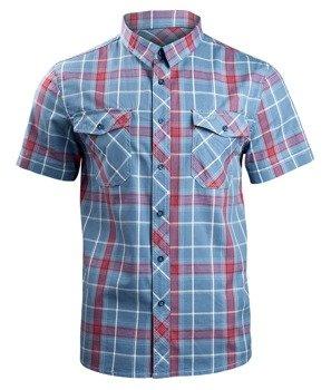 koszula ROADSTAR SHIRT, 1/2 SLEEVE - RED/BLUE