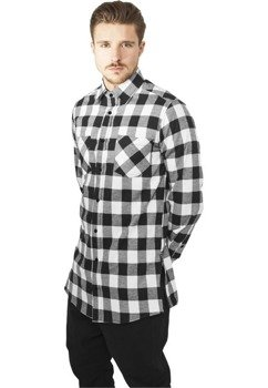koszula SIDE-ZIP LONG CHECKED FLANELL blk/wht