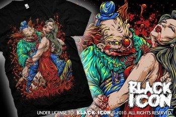 koszulka BLACK ICON - LUNGE (MICON074 BLACK)
