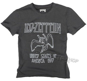 koszulka LED ZEPPELIN - UNITED STATES OF AMERICA '77 szara