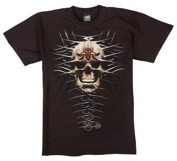 koszulka SKULBONE - TRIBAL SKULL brązowa