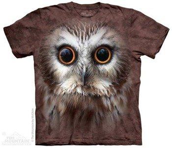 koszulka THE MOUNTAIN - SAW WHET OWL, barwiona
