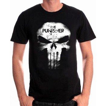 koszulka THE PUNISHER - SKULL LEATHER EFFECT