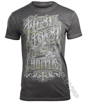 koszulka WEST COAST CHOPPERS - LOCK UP, vintage grey
