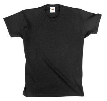 koszulka dziecięca FRUIT OF THE LOOM - BLACK bez nadruku