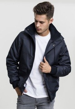 kurtka HEAVY HOODED JACKET navy