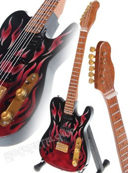 miniaturka gitary JAMES BURTON - FLAMES TELEC.