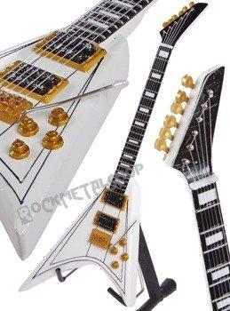 miniaturka gitary OZZY OSBOURNE - RANDY RHOADS: JACKSON RR1 WHITE V