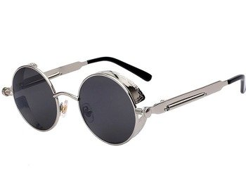 okulary LENONKI STEAMPUNK RETRO RAY SILVER