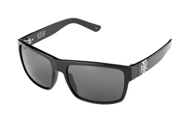 okulary WEST COAST CHOPPERS - SHINY BLACK WITH SMOKED LENSES