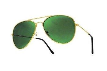 okulary przeciwsłoneczne AVIATOR GREEN