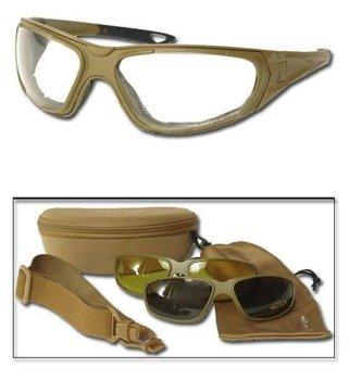 okulary taktyczne GOGGLE 3IN1 Paintball COYOTE