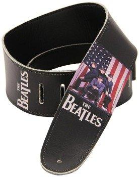 pas do gitary THE BEATLES - US FLAG skórzany, 63mm