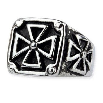pierścień BLACK IRON CROSS 3