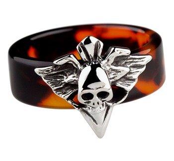 pierścień BROWN SKULL