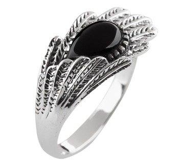 pierścionek SILVER ONYKS, srebro 925