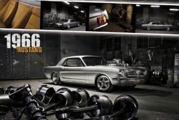 plakat FORD SHELBY - MUSTANG 1966