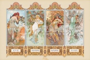 plakat  MUCHA - 4 SEASONS