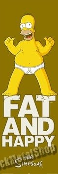 plakat na drzwi SIMPSONS - FAT AND HAPPY
