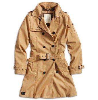 płaszcz damski TRENCHCOAT WOMEN BROWN