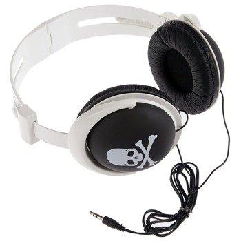 słuchawki HEADPHONE SKULL WHITE/BLACK