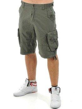 spodnie bojówki krótkie WEST COAST CHOPPERS - INDUSTRIY OLIV