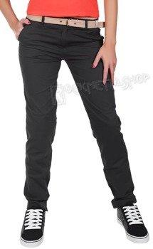 spodnie damskie XYLONTUM CHINO TROUSERS WN ANTHRACITE
