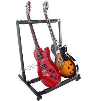 stojak na 3 gitary GLEAM MM-009A - do gitar elektrycznych i basowych
