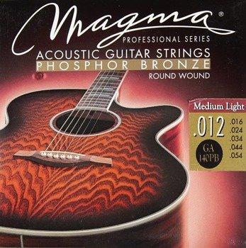 struny do gitary akustycznej MAGMA Phosphor Bronze / Medium Light /012-054/
