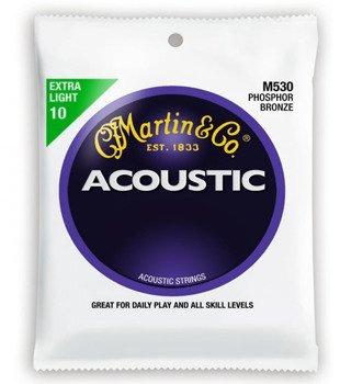 struny do gitary akustycznej MARTIN M530 - PHOSPHOR BRONZE Extra Light /010-047/