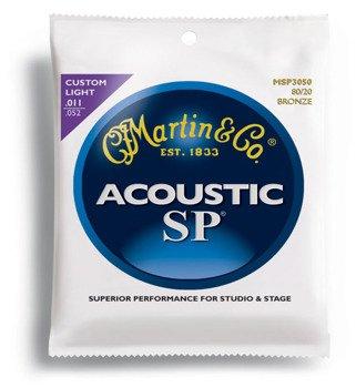 struny do gitary akustycznej MARTIN MSP3050 - 80/20 BRONZE Custom Light /011-052/