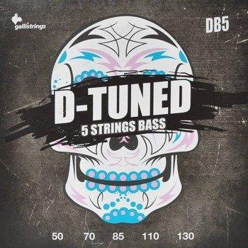 struny do gitary basowej 5str. GALLI STRINGS - D-TUNED DB5 obniżony strój /050-130/