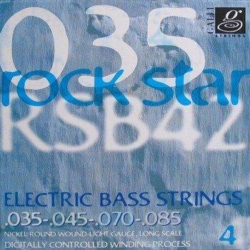 struny do gitary basowej GALLI STRINGS - ROCK STAR RSB41 NICKEL WOUND /035-085/